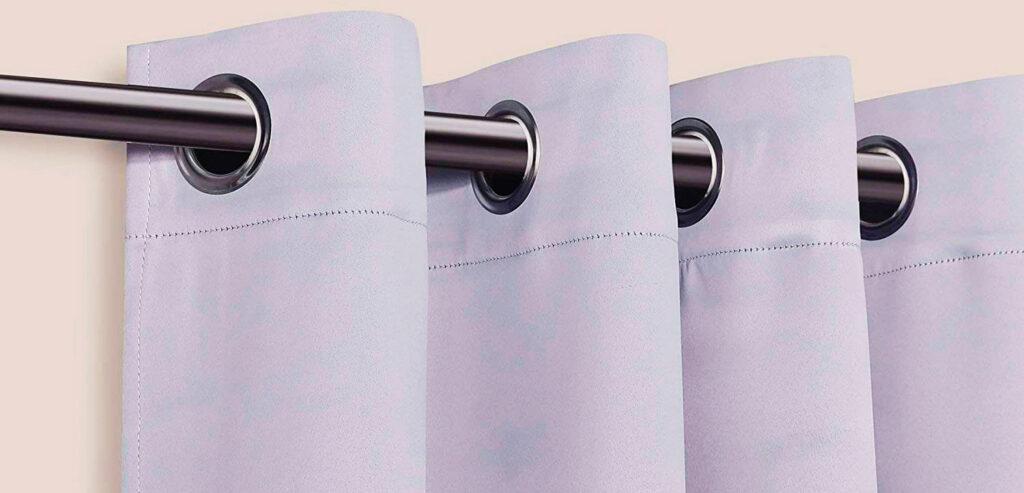 cortina térmica con ojales y pliegue