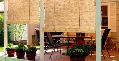 persianas de bambu a medida terraza